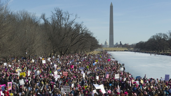 Womens March , Washington, USA - 20 Jan 2018